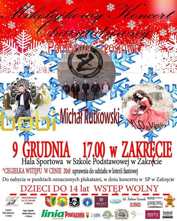 Plakat koncert charytatywny