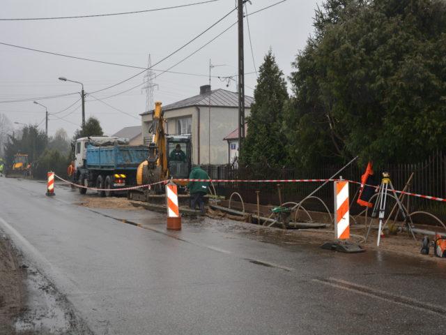 Prace przy budowie kanalizacji