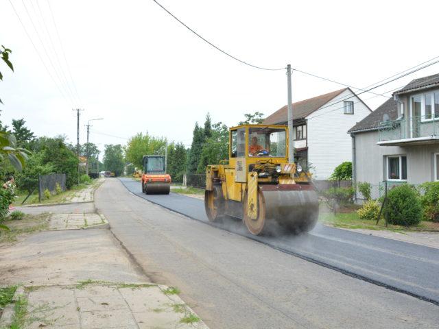 Remont drogi w Pęclinie