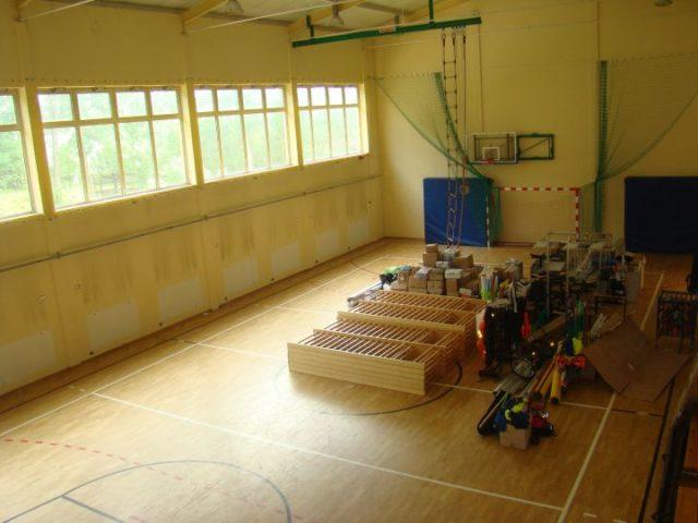 Remont sali gimnastycznej w Glinance