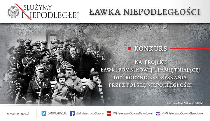 Plakat Ławka Niepodległości