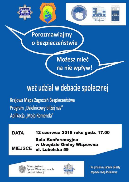 Plakat Debata Wiązowna