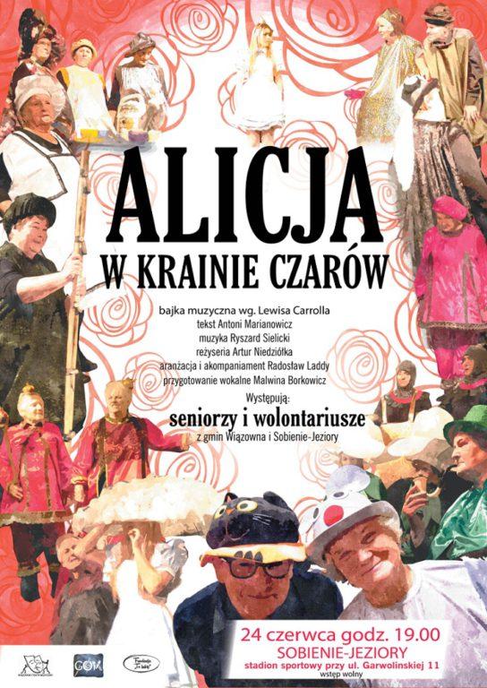 Alicja w Krainie Czarów w 24 czerwca w Sobieniach-Jeziorach