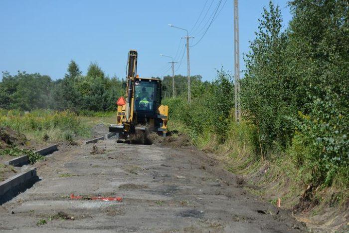 Budowa pętli w Michałówku