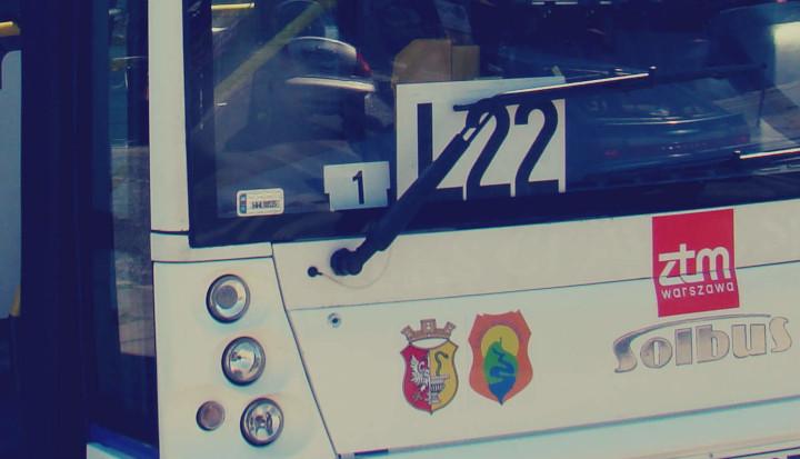 Przód autobusu linii L22