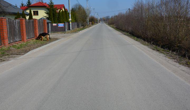 Wyremontowany odcinek drogi Majdan - Izabela