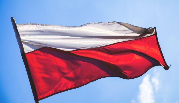 Biało-czerwona flaga narodowa Polski