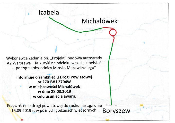 Mapa drogi powiatowej