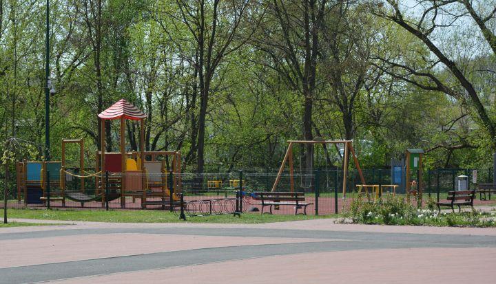 Plac zabaw na Gminnym Parku Centrum w Wiązownie