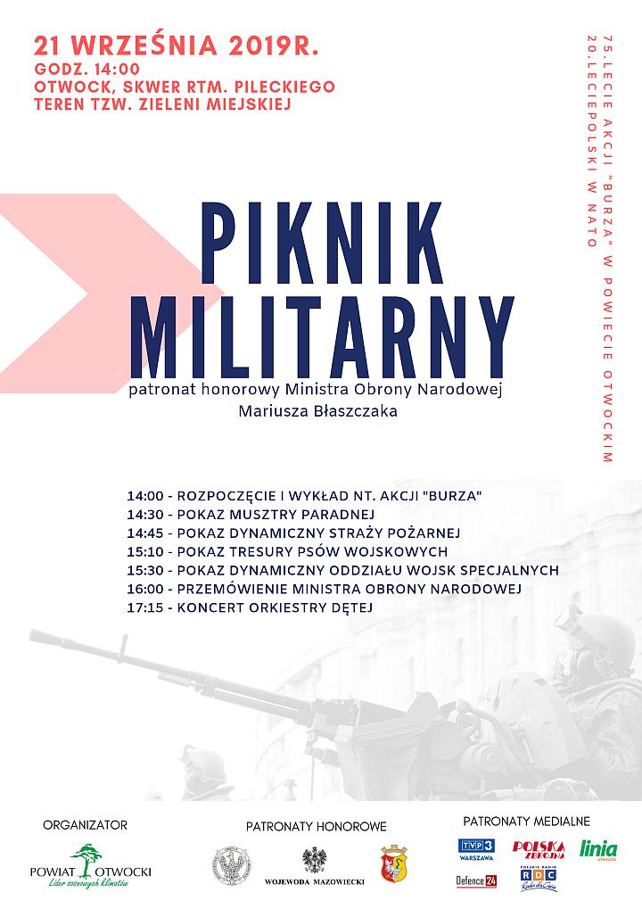Plakat Pikiniku Militarnego w Otwocku