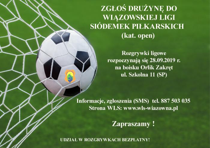 Plakat Wiązowskiej Ligi Siódemek Piłkarskich