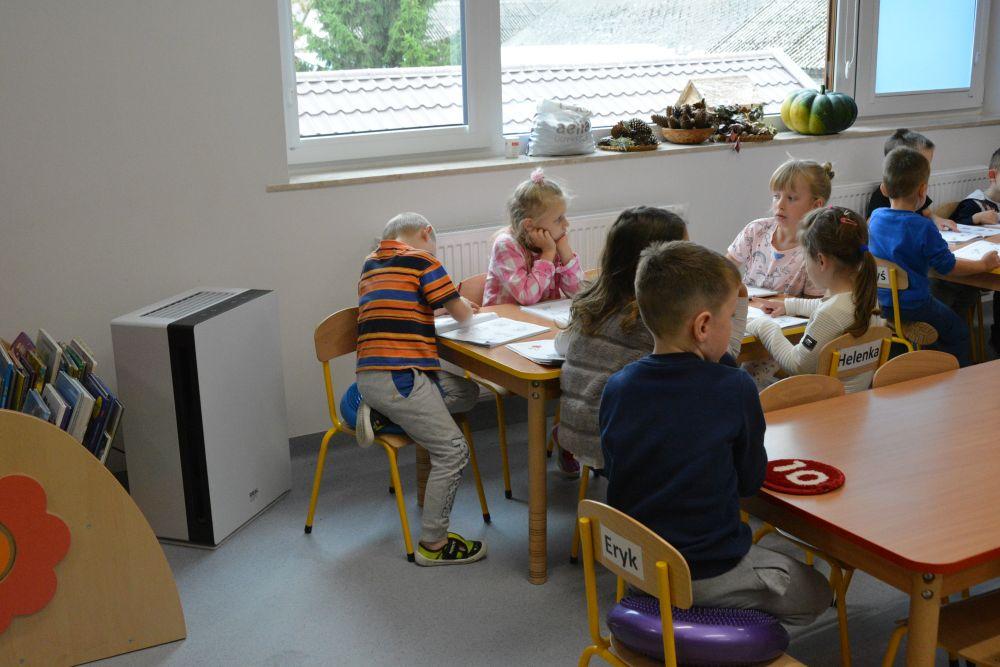 Oczyszczacz powietrza w przedszkolu w Woli Duckiej