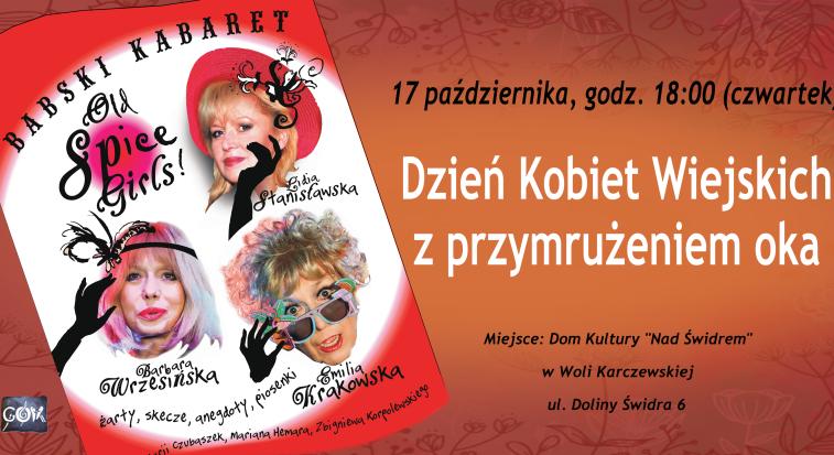 Plakat Dnia KObiet Wiejskich w Woli Karczewskiej