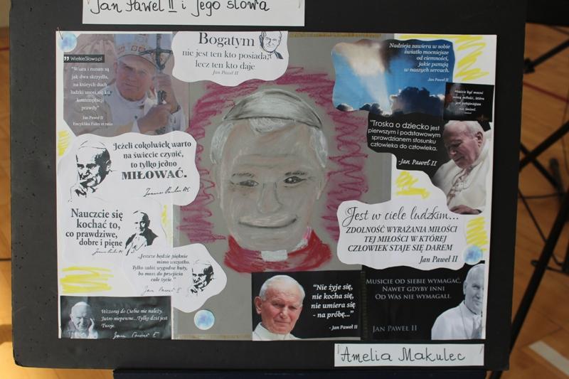 Dni Papieskie w szkole w Zakręcie. Praca konkursowa