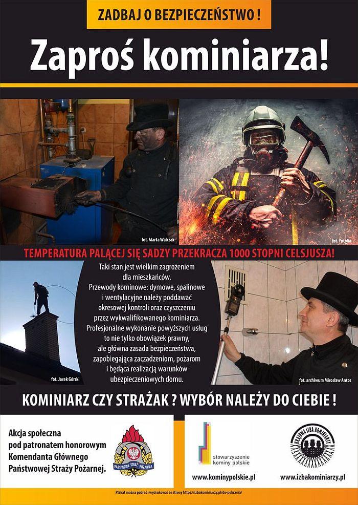 Plakat Zaproś kominiarza do domu