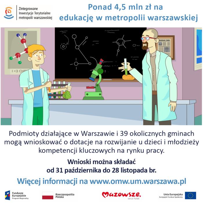 Plakat akcji Środki na edukację