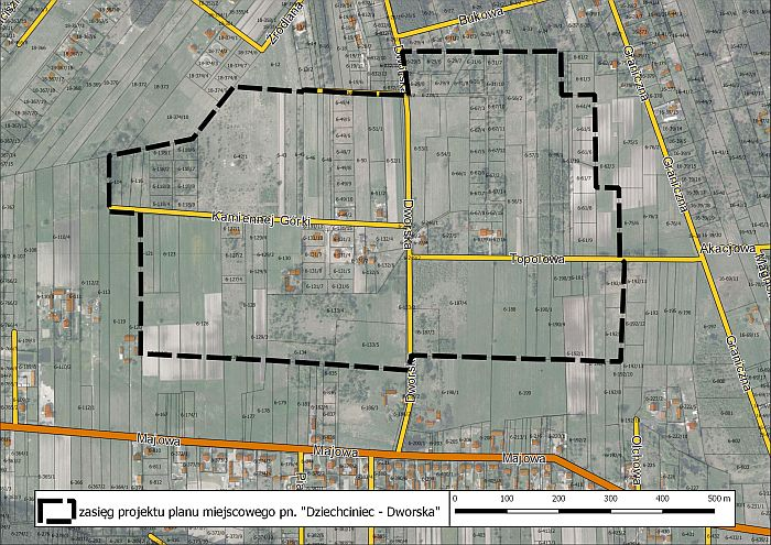 Projekt planu zagospodarowania przestrzennego w Dziechcińcu