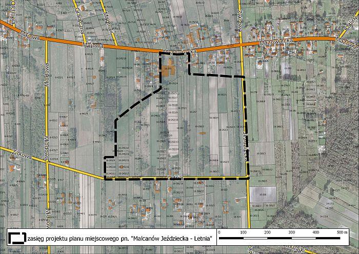 Projekt planu zagospodarowania przestrzennego w Malcanowie