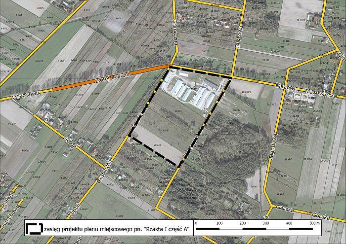Projekt planu zagospodarowania przestrzennego w Rzakcie