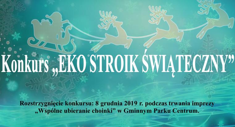 Plakat konkursy na eko stroik świąteczny