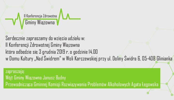 Zaproszenie na II Konferencję Zdrowotną gminy Wiązowna
