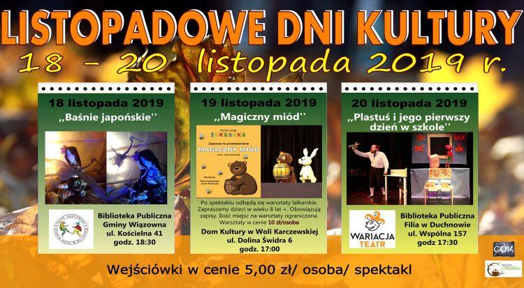 Plakat Listopadowych Dni Kultury