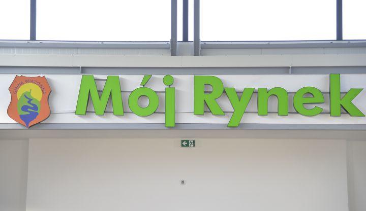 Mój Rynek w Wiązownie - napis na ścianie