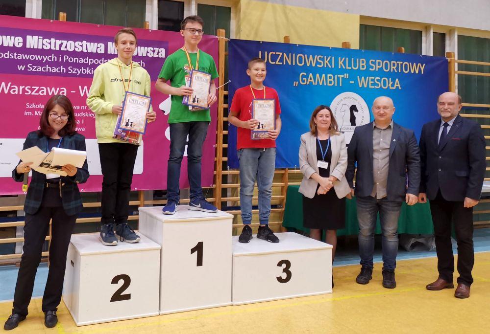Drużynowe Mistrzostwa Mazowsza Szkół Podstawowych i Ponadpodstawowych w Szachach Szybkich 2019