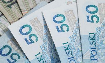 50 złotych - cztery banknoty jeden na drugim
