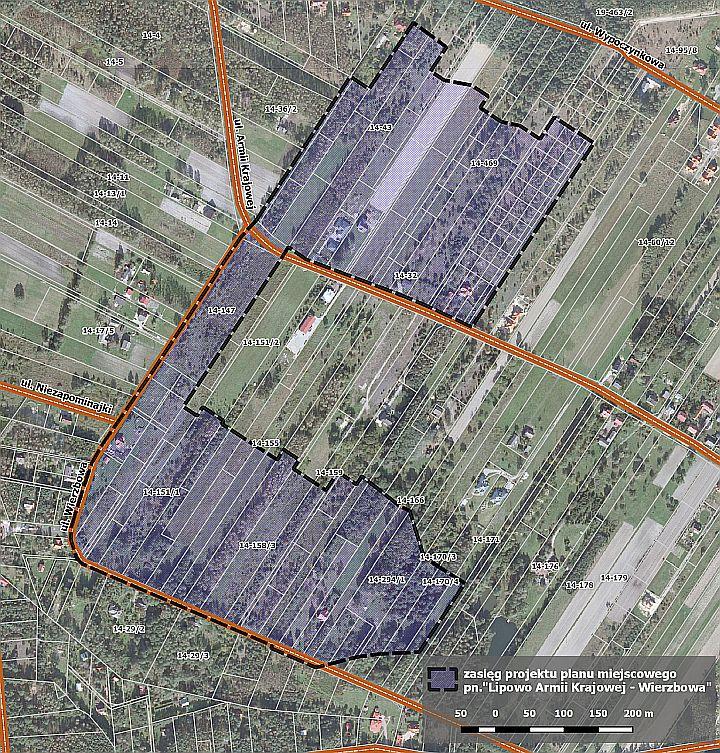 Projekt planu zagospodarowania przestrzennego w Lipowie ul. Armii Krajowej