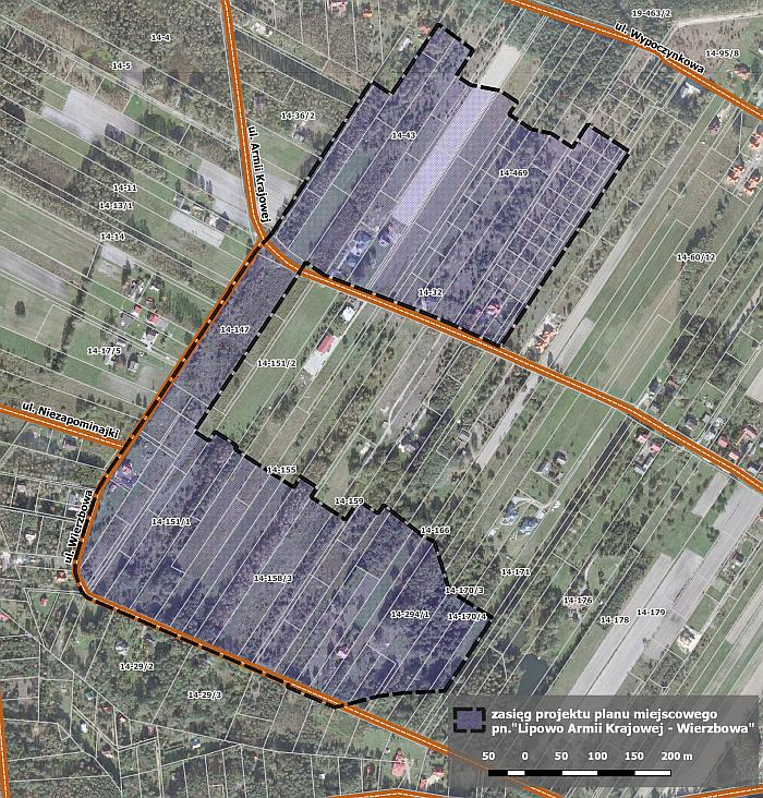 Projekt planu zagospodarowania przestrzennego Lipowo Armii Krajowej - Wierzbowa