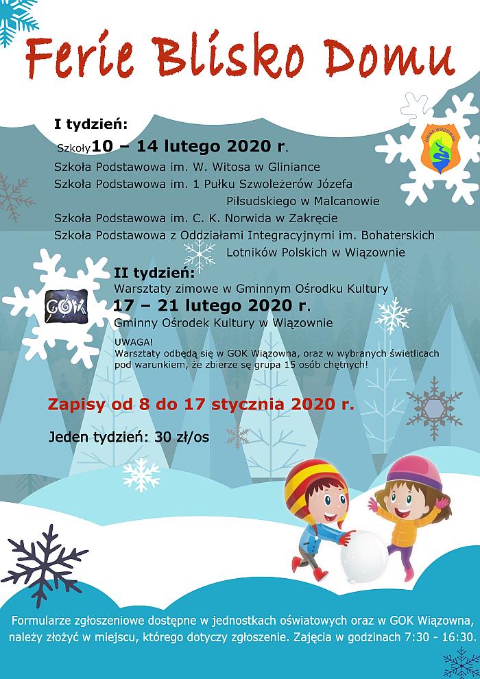 Plakat Akcji Ferie blisko Domu 2020