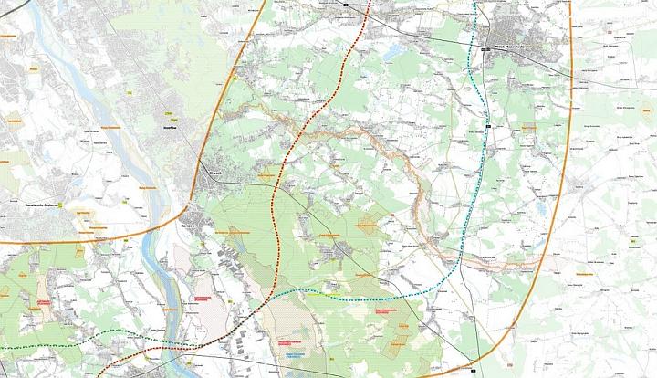 Mapa przebiegu drogi ekspresowej S10
