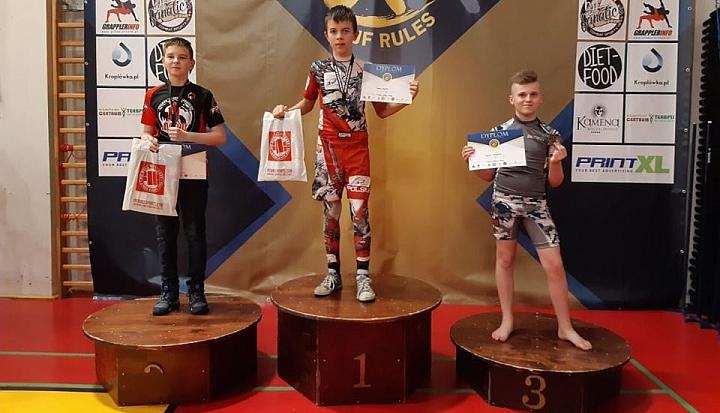 X Mistrzostwa Polski NO GI Jiu Jitsu. Antek Rogowski na podium