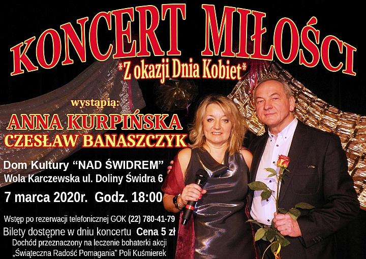 Koncert miłosci w Domu Kultury Nad Świdrem w Woli Karczewskiej
