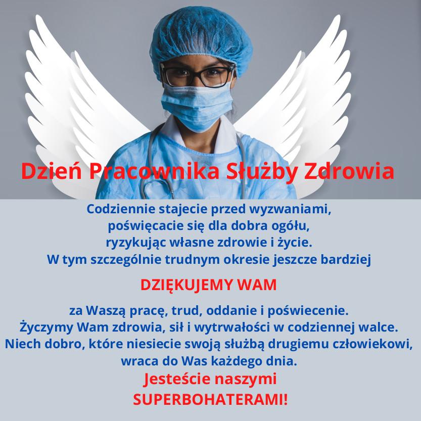 Życzenia dla pracowników służby zdrowia. Jesteście naszymi superbohaterami