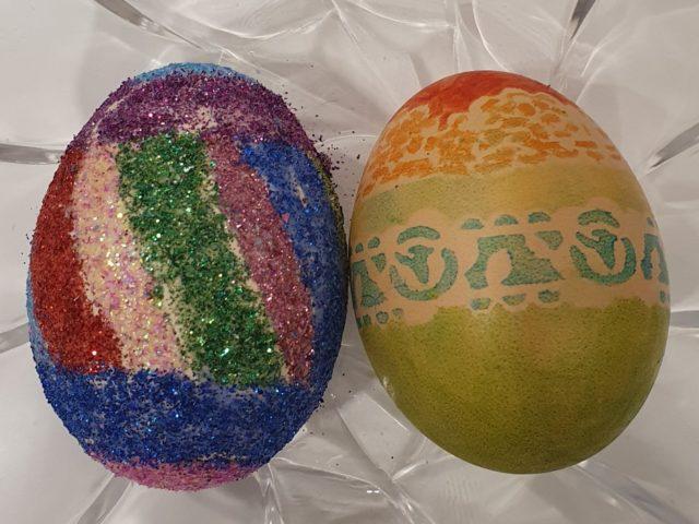 Wielkanocne prace uczniów szkoły podstawowej w Gliniance