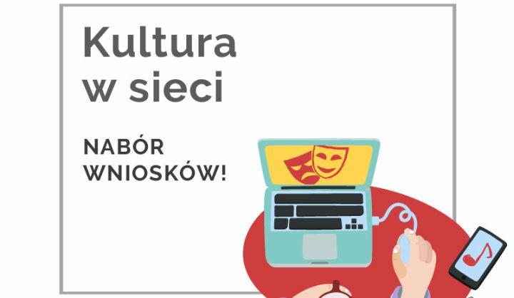 Plakat akcji Kultura w sieci