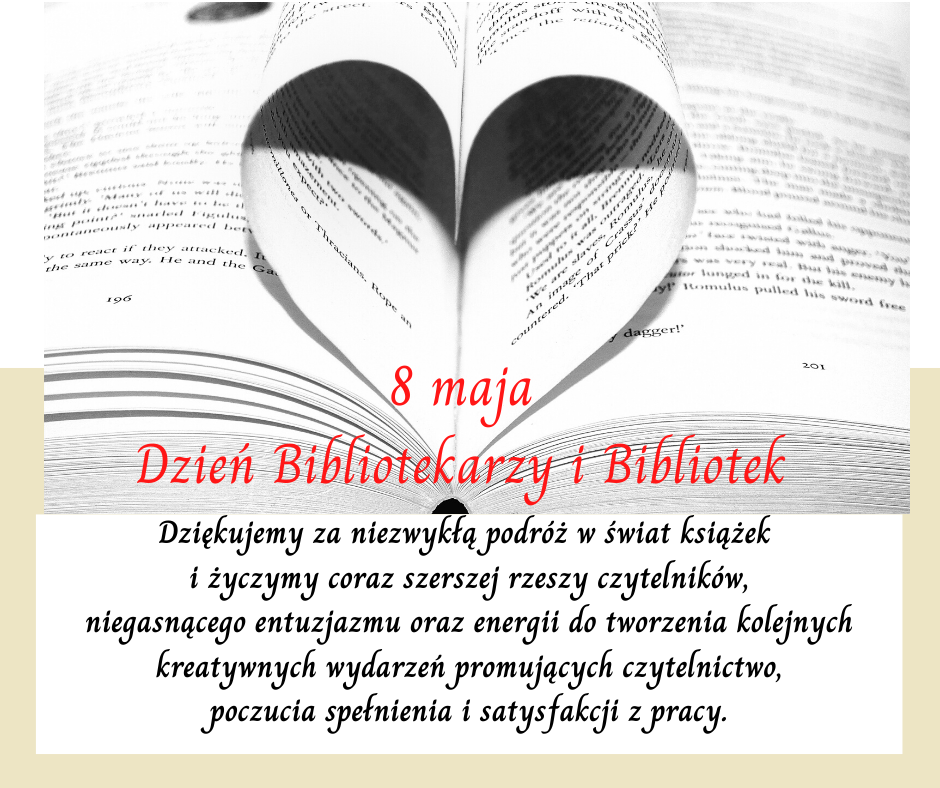 Życzenia z okazji Dnia Bibliotekarza i Bibliotek