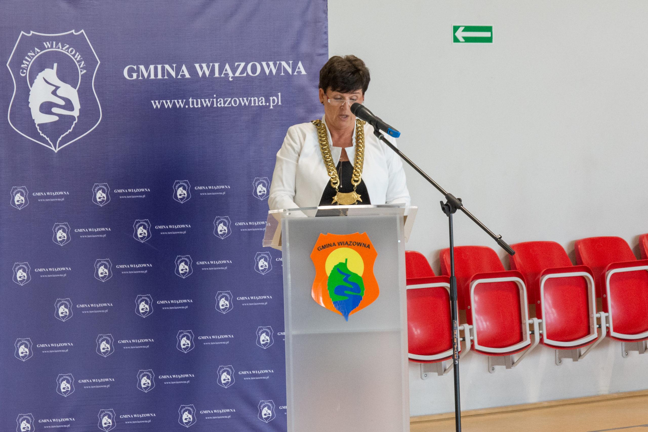 Przemawia przewodnicząca Rady Gminy Renata Falińska