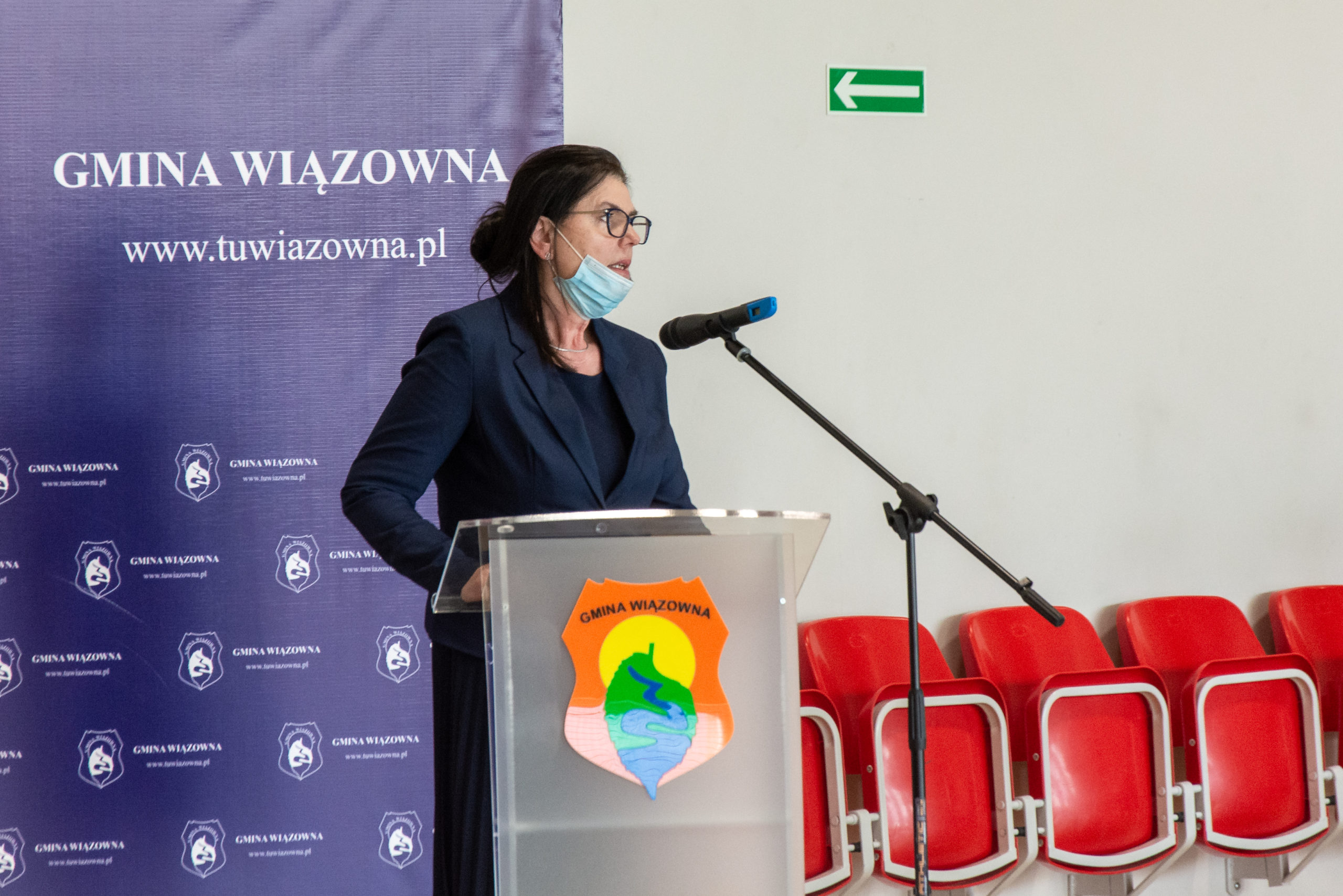 Przemawia była wójt Aanna Bętkowska