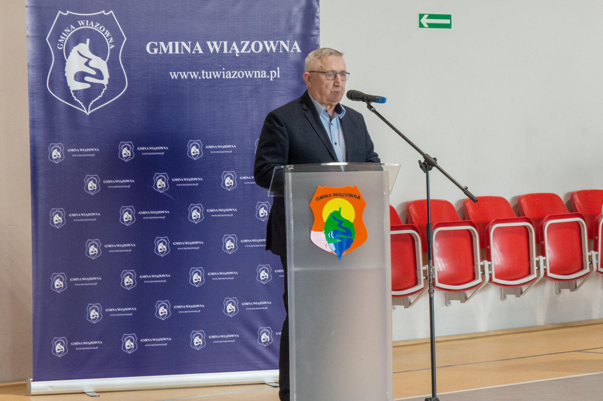 Przemawia były wójt oraz radny i sołtys Malcanowa Stanisław Bogucki