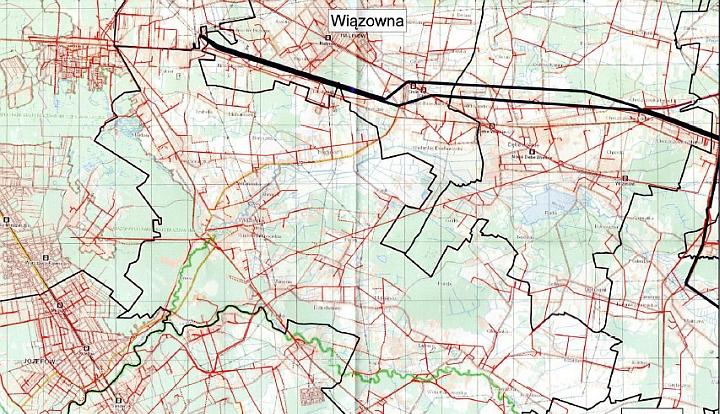 Sechemat sieci energetecznej na terenie gmSchemat sieci energetycznej na terenie gminy Wiązownany Wiązowna