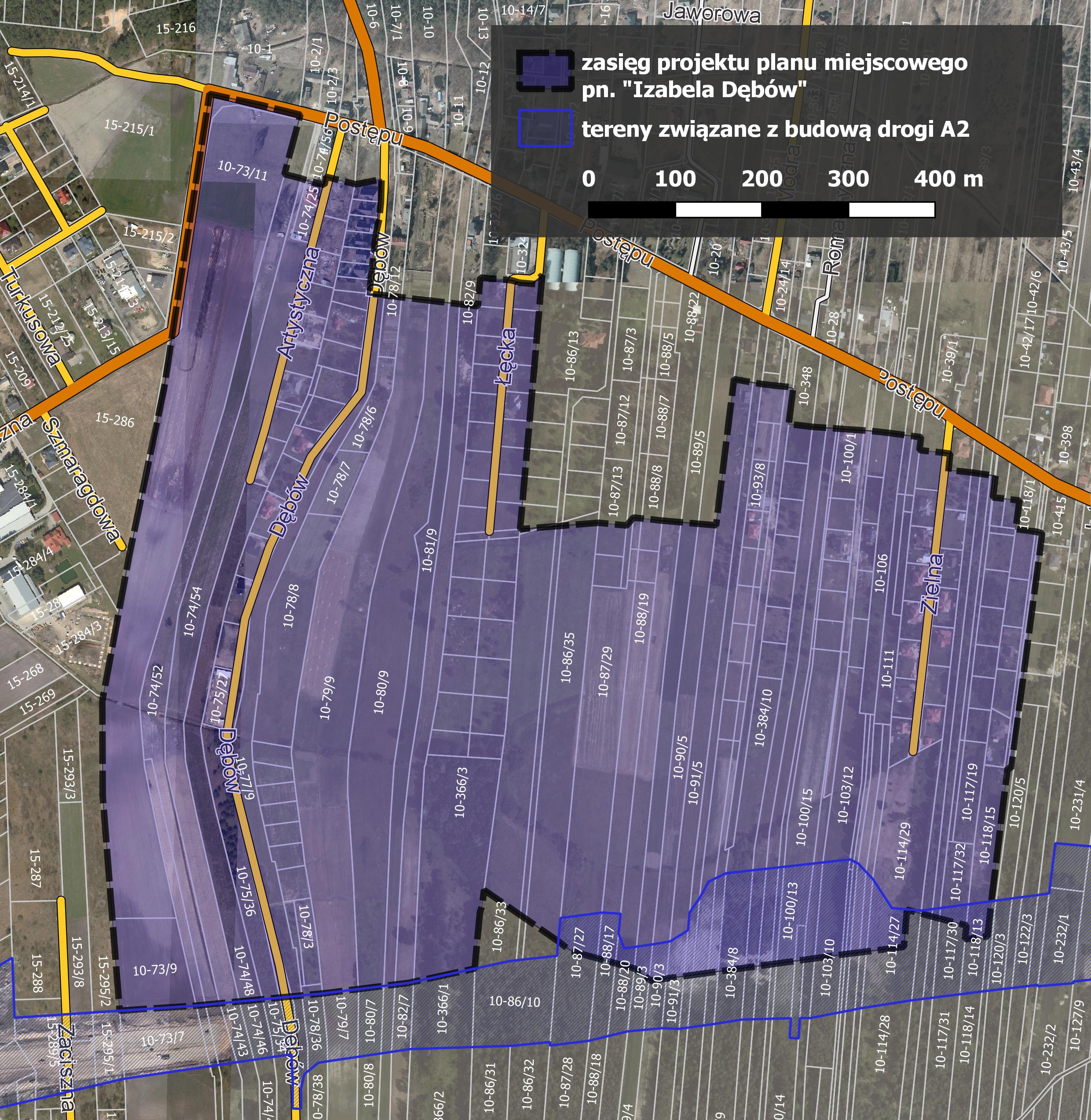 Projekt miejscowego planu zagospodarkowania przestrzennego Izabela - Dębów
