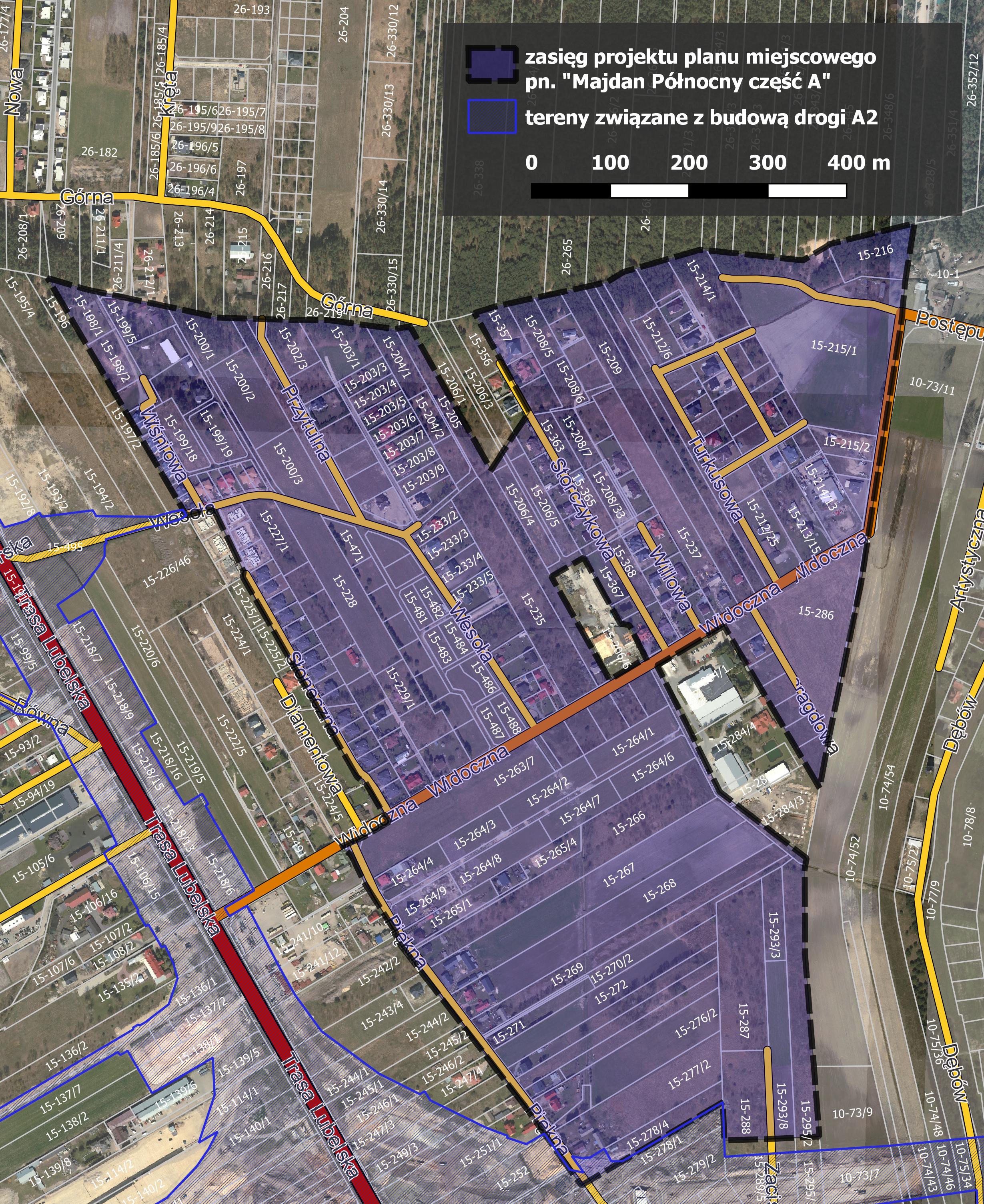 Projekt miejscowego planu zagospodarkowania przestrzennego Majdan Północny część A
