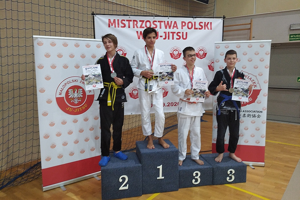 Orły z Zakrętu na podium zawodów Ju Jitsu, które odbywały się w Bochni w dniach 4-6 września 2020 r.