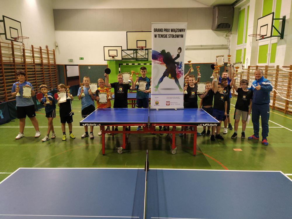 III Grand Prix Wiązowny w tenisie stołowym w szkole podstawowej w Wiązownie