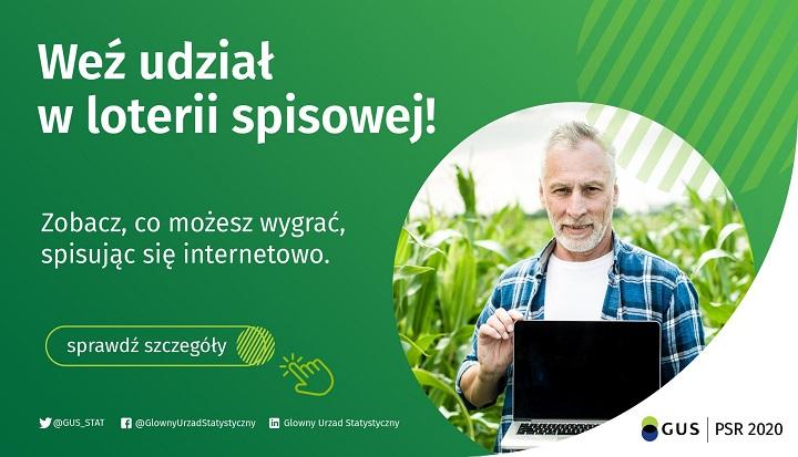 GUS ogłosił loterię z nagrodami dla rolników, którzy sami się spisali