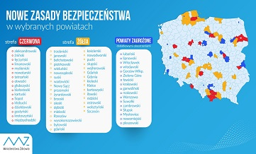 Wykaz stref na terenie całej Polski