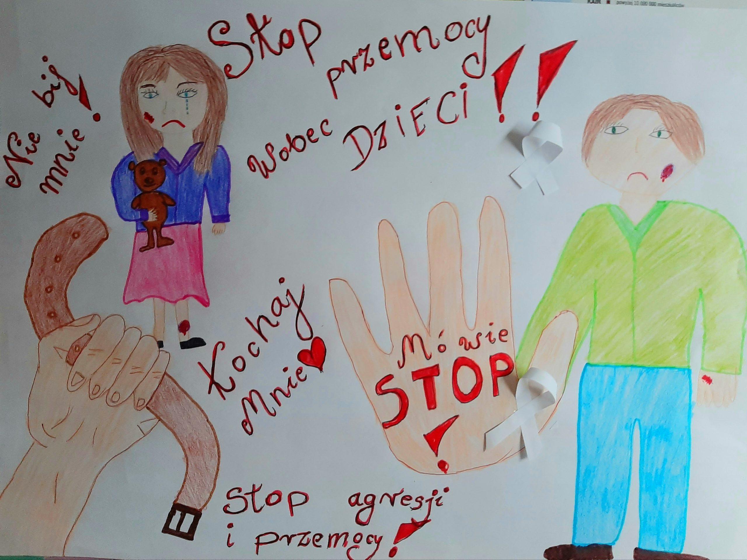 """Zwycięska praca """"My dzieci przemocy mówimy STOP"""""""